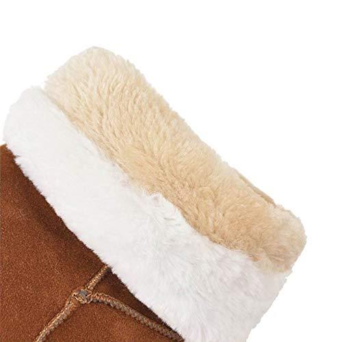 pour mode fermeture avec à femmes Bottes carré Vulusvalas glissière et jaune talon la à wIR6tcq