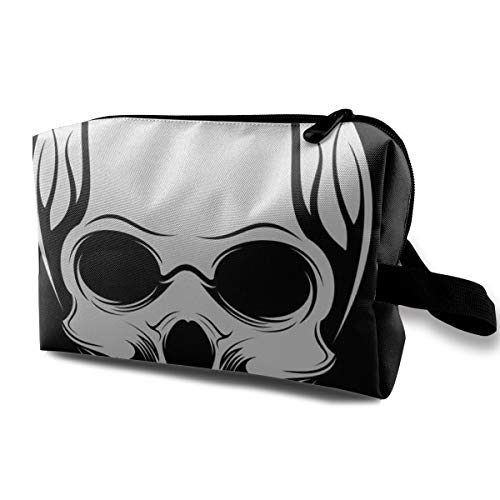 (Eratdatd Customized Badass Skulls Snorkel Ladies'skin Care Cosmetic Bag Portable Cosmetic Bag Waterproof Travel Pocket, Handbag Zipper Pocket)