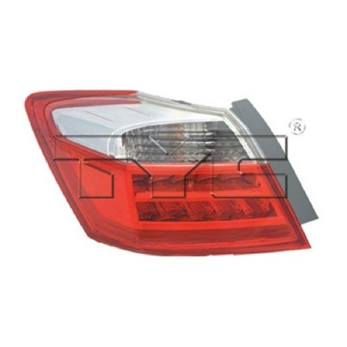 Go-Parts OE Replacement for 2013-2014 Honda Accord Rear Tail Light Lamp Assembly/Lens/Cover - Left (Driver) Side Outer - (EX-L + Hybrid EX-L + Hybrid Touring + Touring) 33550-T2A-A1 ()