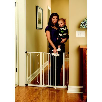 "Regalo Easy Step Walk Thru Gate, White, Fits spaces between 29"" and 39"" Wide (2-Pack)"