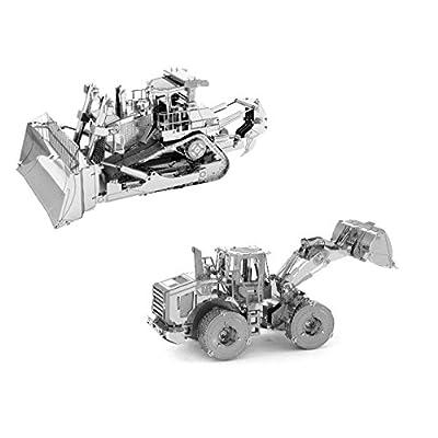 Metal Earth Fascinations Cat Dozer E Wheel Loader Original Puzzle In Metallo 3d Giocattoli Da Costruzione Modelli Di Taglio Laser