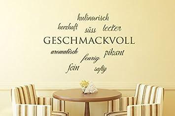 Küchentattoos  Wandtattoo Küche Wortwolke Geschmackvoll Nr 1 Küchentattoos ...