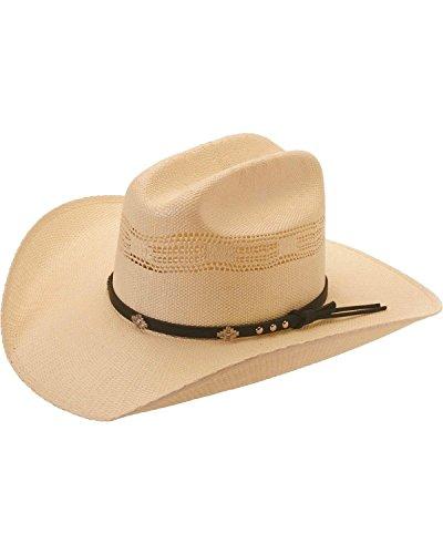 (Silverado Men's Colorado Bangora Straw Cowboy Hat Ivory 6 7/8)