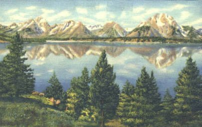 Grand Teton National Park, Wyoming Postcard from Old Postcards