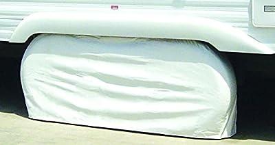 ADCO White Double Axle Tyre Gard Wheel Cover