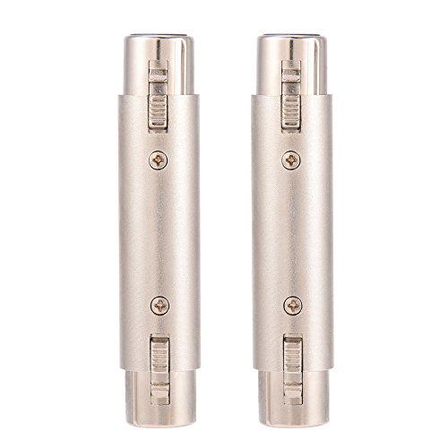 Pomya 3-Pin XLR Female to Female Audio Connector 2Pcs XLR Microphone Mic Adapter Gender Changer