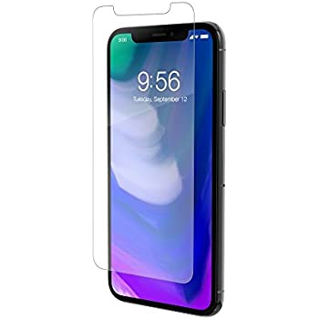 los angeles 8232d 5e0d2 ZAGG InvisibleShield Glass Defense - Lightwieght Tempered Glass Screen  Protector - Made for Apple iPhone X / XS - Case Friendly