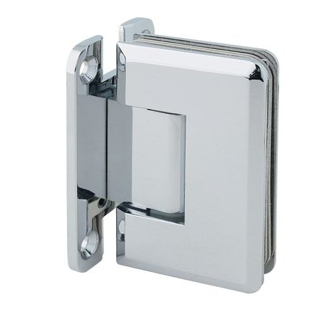 MONT HARD Heavy Glass Shower hinge with Bevelled edge in Polished Chrome Finish: Note: for replacement hinges, Mont Hard hinges fit industry standard mouse ear template (Chrome Door Handles And Hinges compare prices)