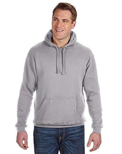 Cotton Oxford Pullover - J America Tailgate Fleece Pullover Hood - Oxford - Xl