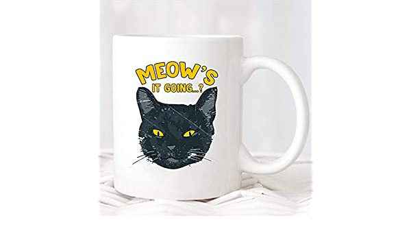 Promini Cat Mug Funny Cat Mug Regalo De Amante De Gato Regalo De Mamá De Gato Regalo De SeñOra Loca De Gato Regalo Para Amantes De Gato Taza De Gato Lindo Regalo