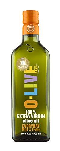 O-Live & Co. Premium Mild & Fruity 100% Extra Virgin Olive Oil - Estate Grown & Bottled - Non-GMO Kosher - 16.9 Fl Oz - Carbon Neutral Sustainable Process - Glass Bottle