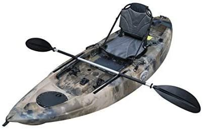 BKC FK285 9.1' Sit On Top Single Fishing Kayak W/Upright Back Support Aluminum Frame Seat