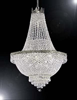 "French Empire Crystal Chandelier Lighting - Great for the Dining Room, Foyer, Living Room! H30"" X W24"""