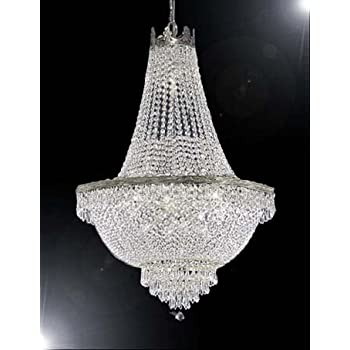 French empire crystal chandelier lighting h36 w30 amazon french empire crystal chandelier lighting great for the dining room foyer living room aloadofball Gallery