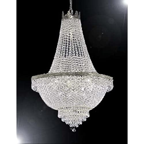 Large crystal chandelier amazon french empire crystal chandelier lighting great for the dining room foyer living room h50 x w30 aloadofball Image collections