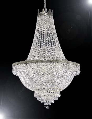 French Empire Crystal Chandelier Lighting – Great for the Dining Room, Foyer, Living Room! H30″ X W24″