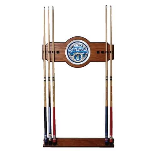 - United States Air Force Billiard Cue Rack with Mirror