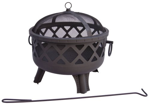 (Landmann USA Garden Lights Sarasota Firepit Black Finish)