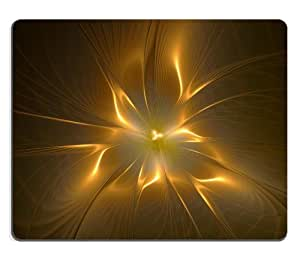Flower Gold Noise Swirl Brown Background Mouse Pads Customized Made to Order Support Ready 9 7/8 Inch (250mm) X 7 7/8 Inch (200mm) X 1/16 Inch (2mm) High Quality Eco Friendly Cloth with Neoprene Rubber MSD Mouse Pad Desktop Mousepad Laptop Mousepads Comfo