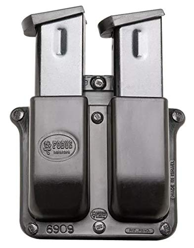 Fobus Belt Pouch - Fobus Double Magazine Pouch- Belt- Holds 2 9mm Double Stack Magazines