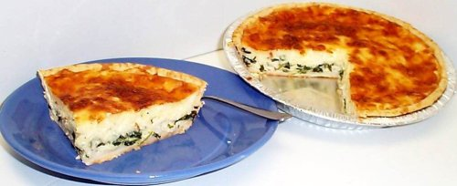 Scott's Cakes 9'' Deep Dish Spinach and Bacon Quiche