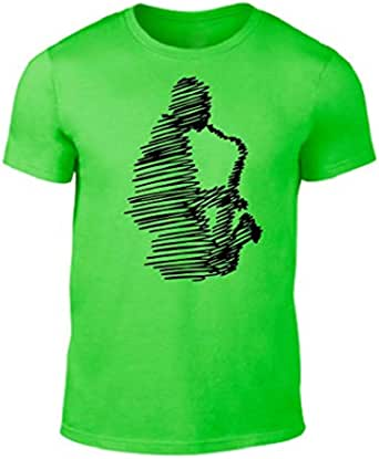Green Round Neck SaxoPhone T-Shirt For Men