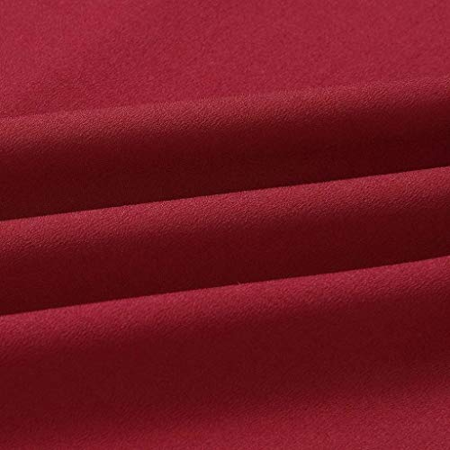 Noche Redondo de Ropa Mujer Damas Corta Fiesta Verano Faldas Casuales 2018 Playa Vestidos Manga Boda Largos Zolimx Cuello Vestidos Rojo Mujeres Mini Vestido aq7Yqdrwnx