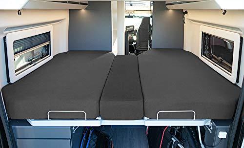 41XJG5ktu%2BL LIVING AIR Wohnmobil Spannbetttuch Set 3 teilig - 2 Längsbetten + Mittelteil - geeignet für FIAT Ducato, Citroen Jumper…