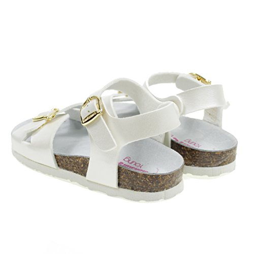 in Italy White Made White 22B1005B Sandals with Buckle Bionatura Model Birk 14nO6Ywq