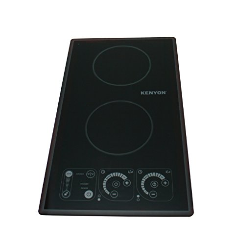 Kenyon B81321 SilKEN2 Induction Two Burner Portrait Trimline Cooktop, 120V, Black
