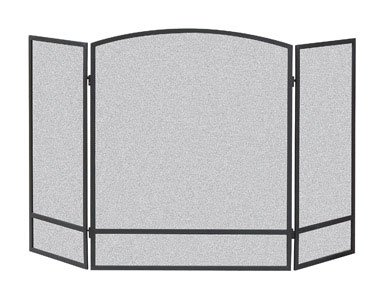 51 3-Panel Arch Screen with Double Bar for Fireplace, Multi ()