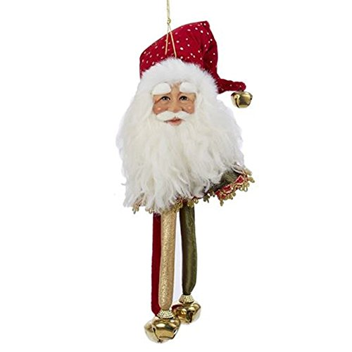(Santa Head-Santa Face Christmas Ornament w Bells J5925-C by Kurt Adler)