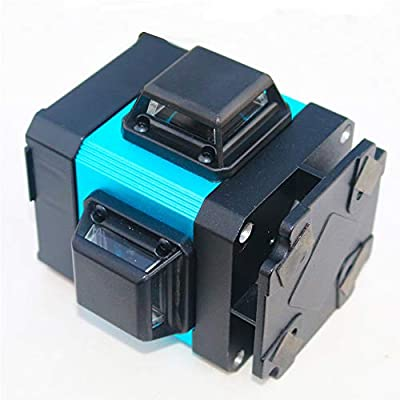 XKYU 12 Line Green Light Laser Level 360 Degrees Rotary Outdoor Self-Leveling Green Beam High Precision Ground Instrument