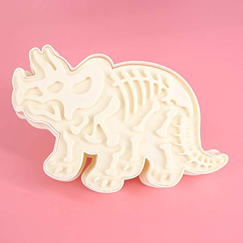 xatos Cookies Cutter Shapes Dinosaur Shape Cookie Cutter Mold Biscuit 3D Baking Mold Cupcake Mold Mini Chocolate Mold ()
