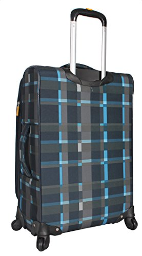 Lucas Luggage Ultra Lightweight Carry On 20 inch Expandable Suitcase With Spinner Wheels (20in, Old School Navy) by Lucas (Image #1)