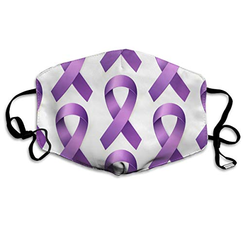 Purple Lupus Awareness Ribbon Pattern Men's Women's Anti Dust Face Mouth Mask for Motorcycle Riding