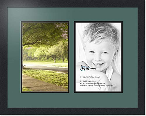 Art to Frames Double-Multimat-188-736//89-FRBW26061 Collage Frame Photo Mat Double Mat with 20-3x4 and 8-3x3 and 1-3x5 Openings and Espresso Frame