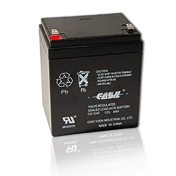 Amazon.com: Casil ca-1240 Batería 12 V, 4 Ah Alarma de ...
