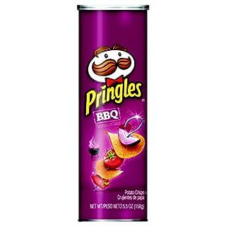 Pringles Snack Stacks Potato Crisps Chips, BBQ Flavored, 5.5 oz Can