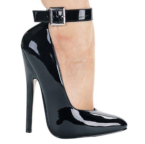 Sandalo Donna Con Cinturino Alla Caviglia Ellie 8261 A 6 Talloni Fetish, Nero, Taglia 13