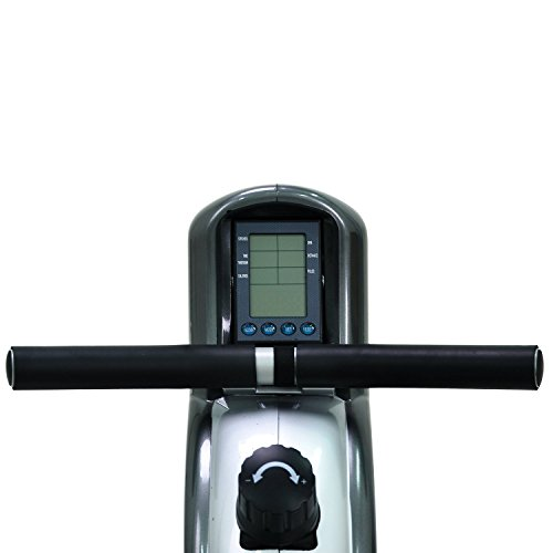 Sunny Health & Fitness SF RW5508 Ultra Tension Magnetic Pro Rowing Machine Rower w/ LCD Monitor