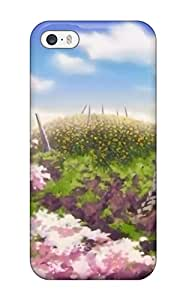 New Arrival UcBUIje8014tuLnd Premium Iphone 5/5s Case(clouds Cherry Blossoms Hills Anime Cherry Tree Sun Rays Sun Flower)