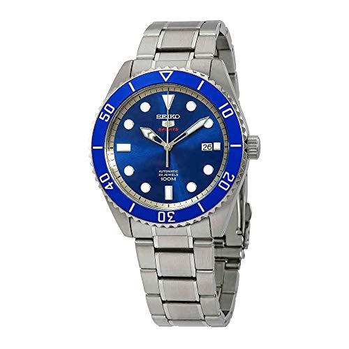 (Seiko Series 5 Automatic Blue Dial Men's Watch SRPB89)