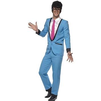Smiffys Karneval Herren Kostum Teddy Junge Blauer Anzug 50er Jahre
