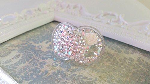 PRINCESS DIANA Swarovski crystal bling binky pacifier (6-18 months)MAM