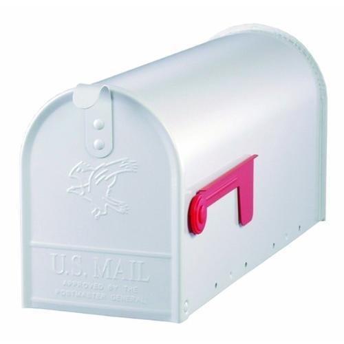 Gibraltar E1100W00 Standard Size Galvanized Steel Rural Mailbox, White New