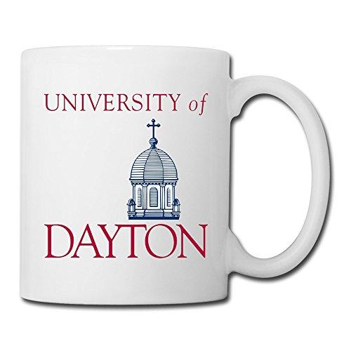 White University Of Dayton Sab04Fl Ceramic Cup 11oz Unisex Printed On Both Sides (Arkansas Razorbacks White Ceramic)