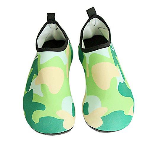 Vert Enfant Yoga Plage Boodtag De Gymnase Unisexe Plongée Surf Pliables Natation Piscine Pour Aquatique Sport Chaussures Chaussettes OOYwq5a