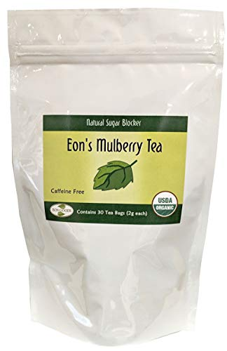 Small Mulberry - USDA Organic White Mulberry Leaf Tea (30 Teabags) | Blood Sugar Controller | Helps Fight Cholesterol | Controls Sugar Levels | Caffeine Free | Boosts Immune System | Helps Weight Loss