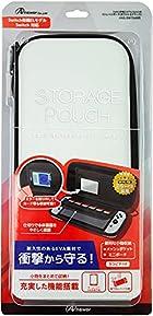 Switch有機ELモデル/Switch用 ストレイジポーチ(ホワイト&ブラック)